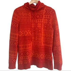Woolrich Tube Neck Snowflake Pattern Sweater